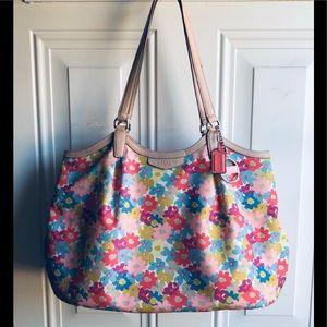 Coach Floral Print Shoulder Bag
